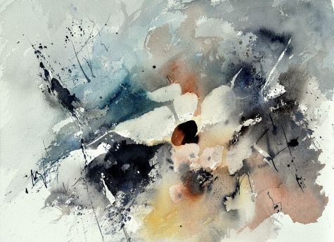 Abstract Watercolor 219022 Original Art Painting By Ledent