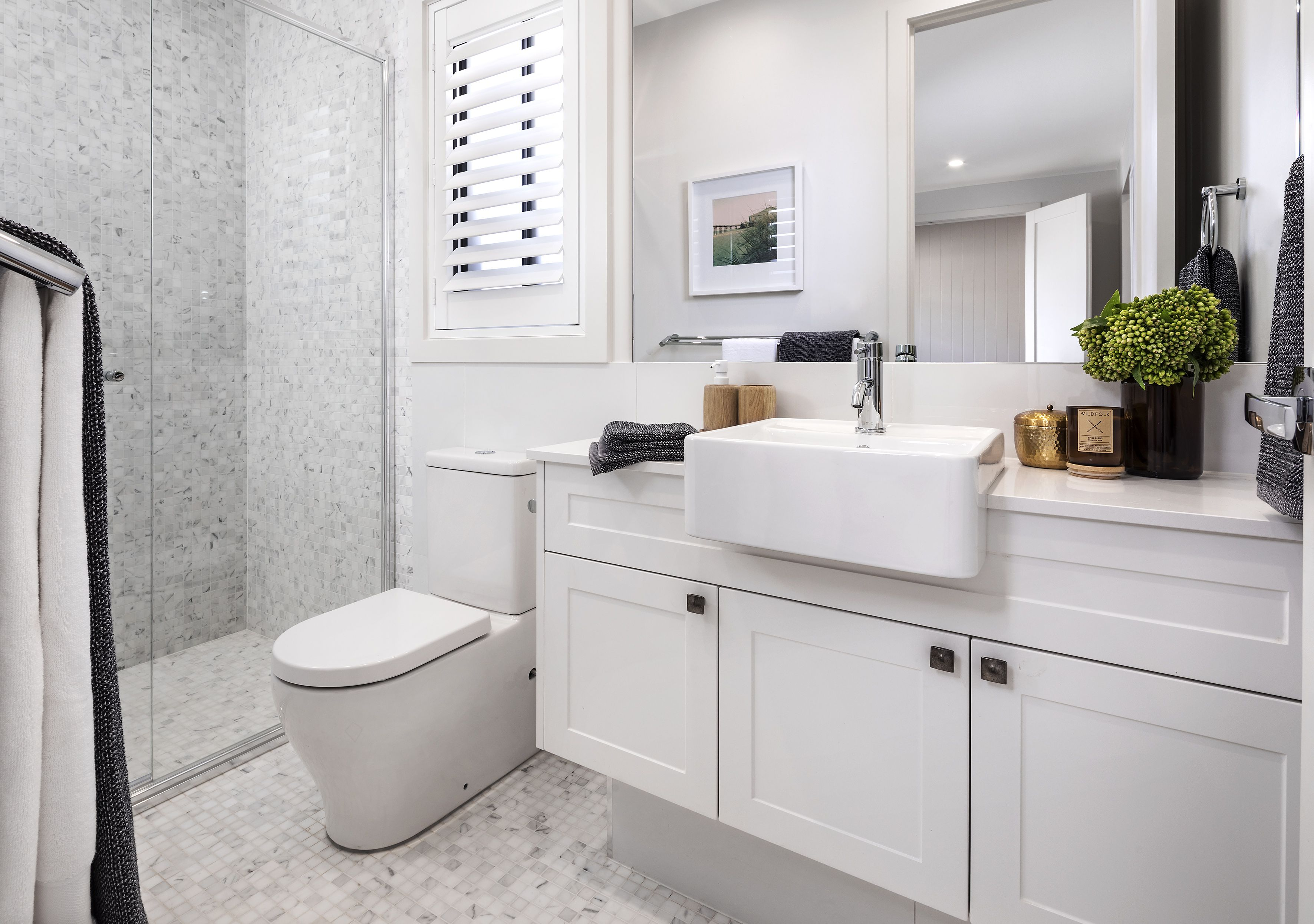 Bathroom In The Symphony Executive With Aspire Facade On Display At Emerald Hills