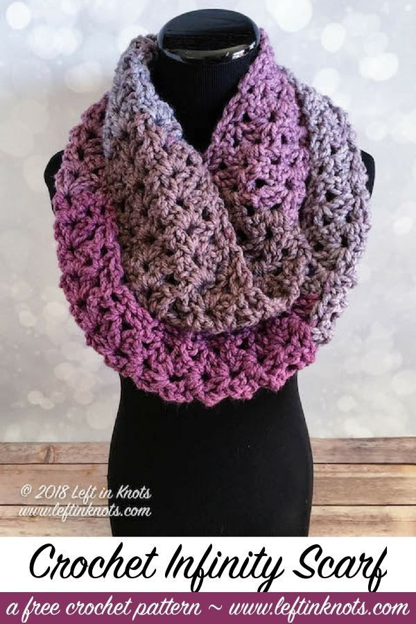 Frosted Berry Infinity Scarf Free Crochet Pattern | My hobby is ...