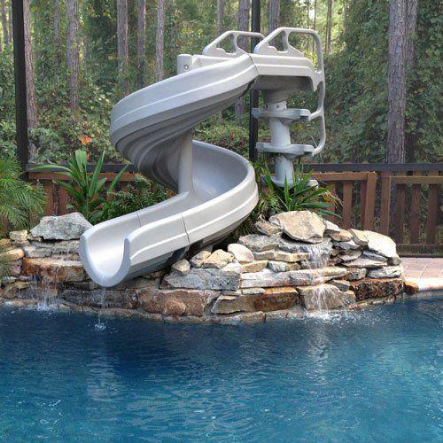 G Force 360 Degree Super Pool Slide Backyard Pool Landscaping