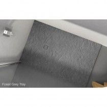 Merlyn TrueStone Rectangular Shower Tray - Fossil Grey