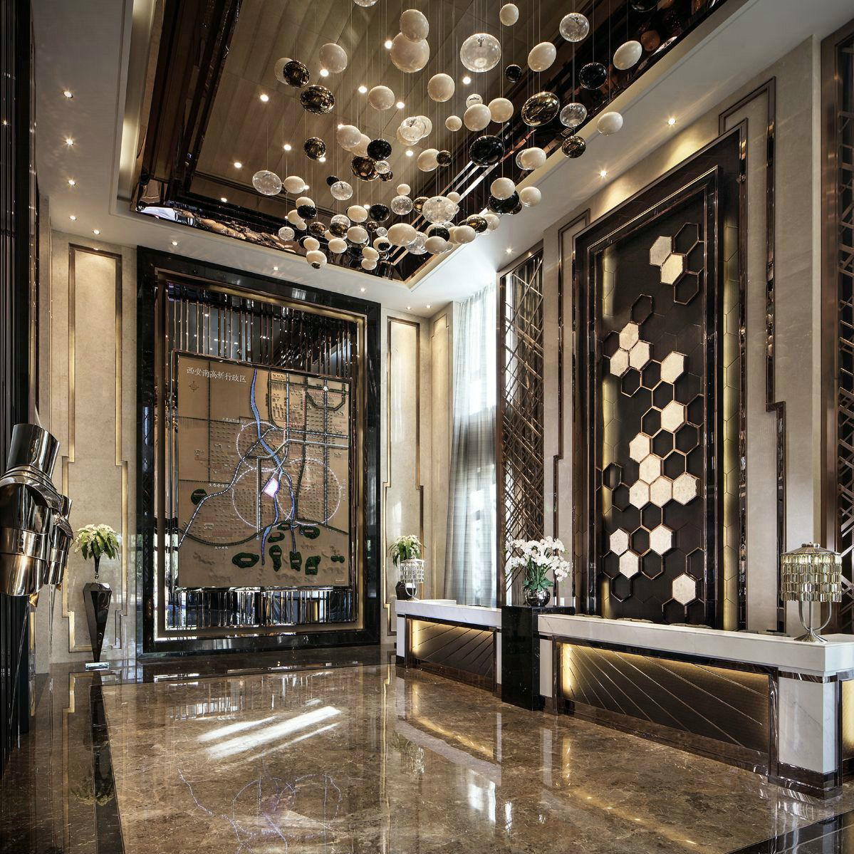 Lobby Interior Design Ideas: Pin By Master Xu On 04A-会所 Sales Center