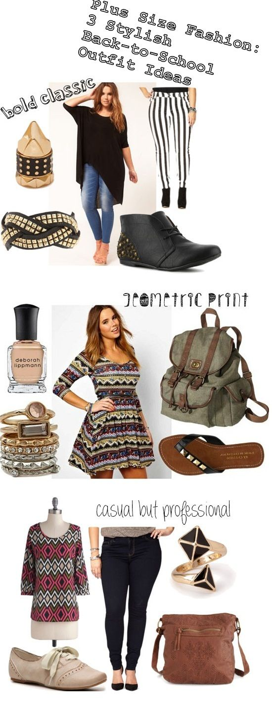Plus Size Fashion: 3 Stylish Back-to-School Outfit Ideas