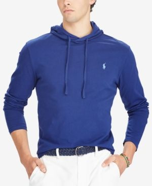 789b15438 Polo Ralph Lauren Men's Jersey T-Shirt Hoodie - League Heather L ...