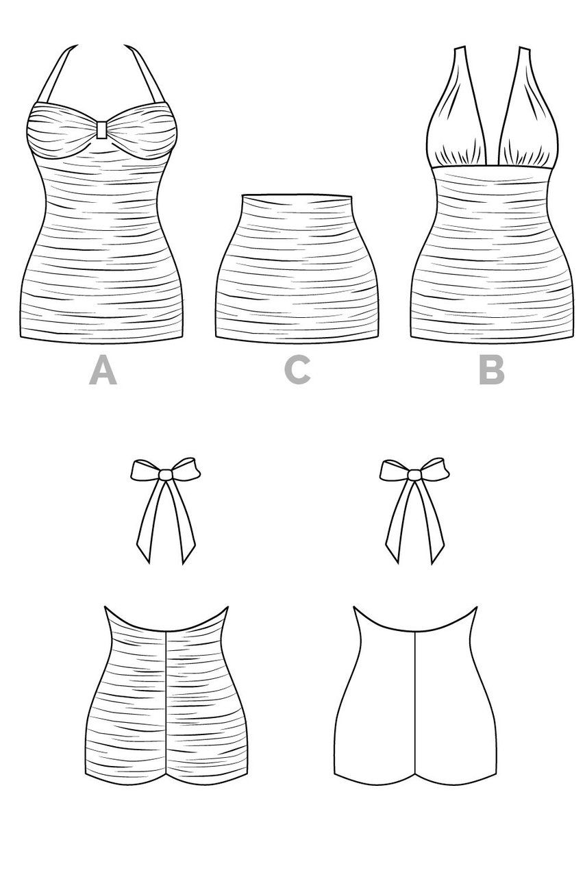 Bombshell Swimsuit Pattern | Sewing | Swimsuit pattern, Sewing ...