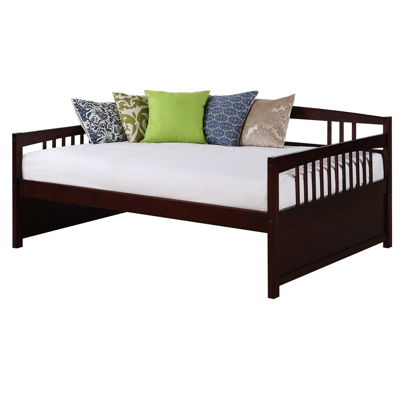 Full Clara Wood Daybed Espresso Dorel Living Full Size Daybed Wood Daybed Furniture