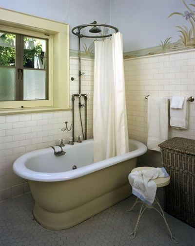 1911 Lanterman House In La Canada Flintridge California Bungalow Bathroom Bathroom Freestanding Vintage Bathroom