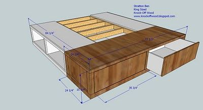 Classic Storage Bed King Diy Furniture Plans King