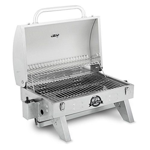 Awesome Pit Boss Grills 305 Sq In Stainless Steel Portable Grill   Gas Barbeque  Reviews