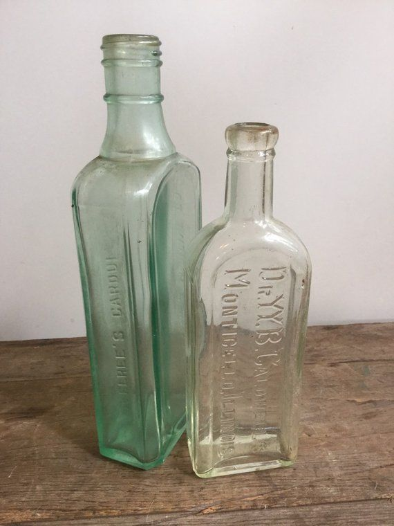 Old glass bottles value