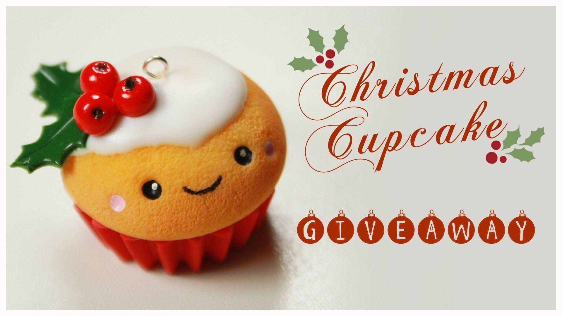 kawaii CHRISTMAS Cupcake TUTORIAL - HUGE Holiday Giveaway ...