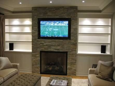 Image Result For Flat Screen Tv Over Gas Log Fireplace Fireplace