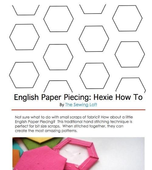 (7) Name: 'Quilting : English Paper Piecing: Hexie How To