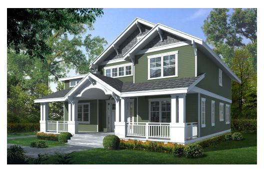 Craftsman style house plan 5 beds baths 2615 sq ft for Completely open floor plans