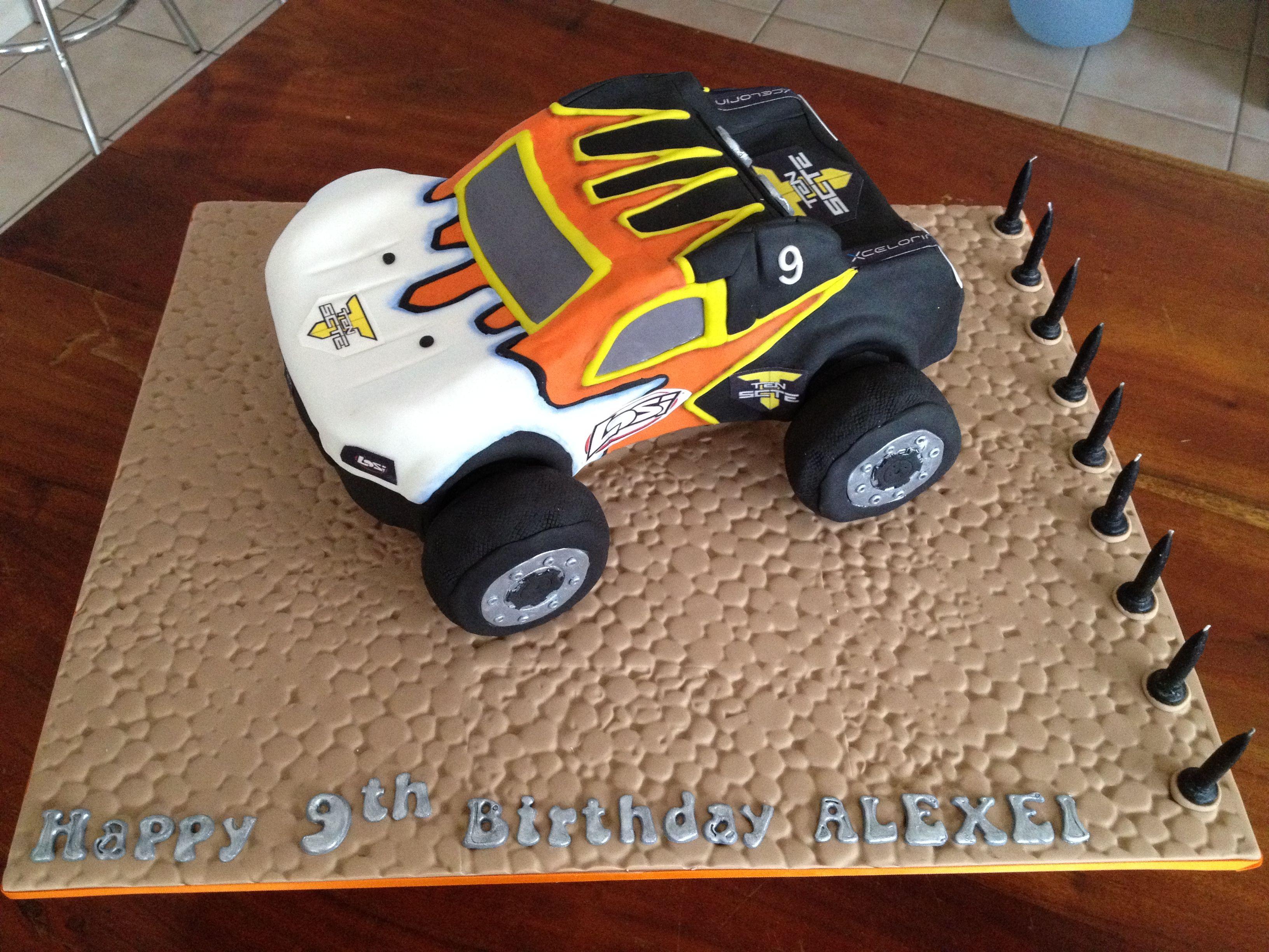 Rc car cake