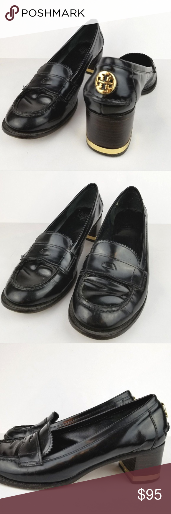 dddcacab54f Tory Burch penny loafers heels size 8 M Tory Burch. Good condition. Some  signs of wear. SIZE  8 M Black DETAILS  Patent leather.