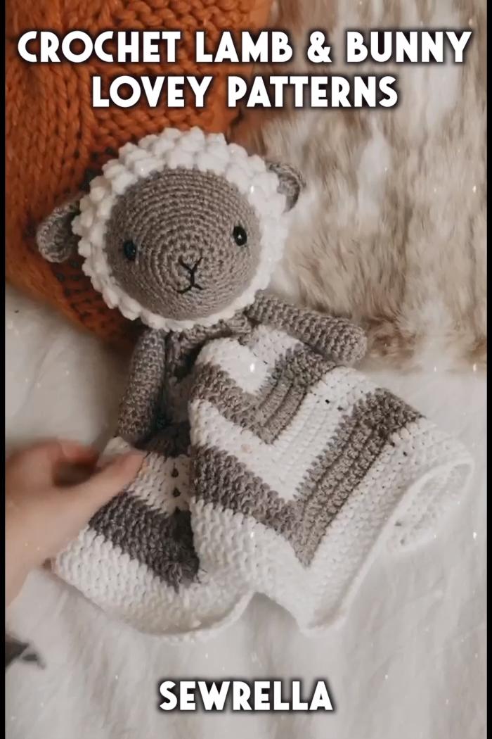 Photo of Crochet Lamb & Bunny Loveys- free patterns