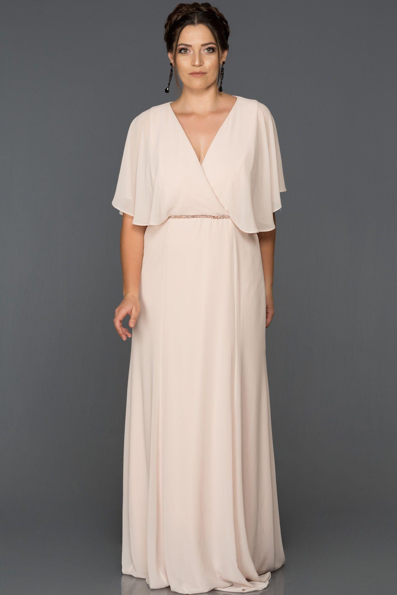 V Yaka Büyük Beden Abiye AB4369 #dressesforengagementparty