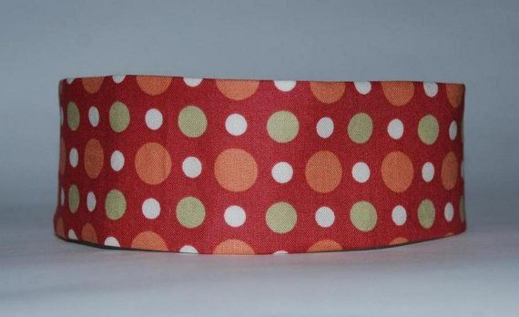 Orange Reversible Polka Dots and Stripes Wide by superchicboutique, $8.00