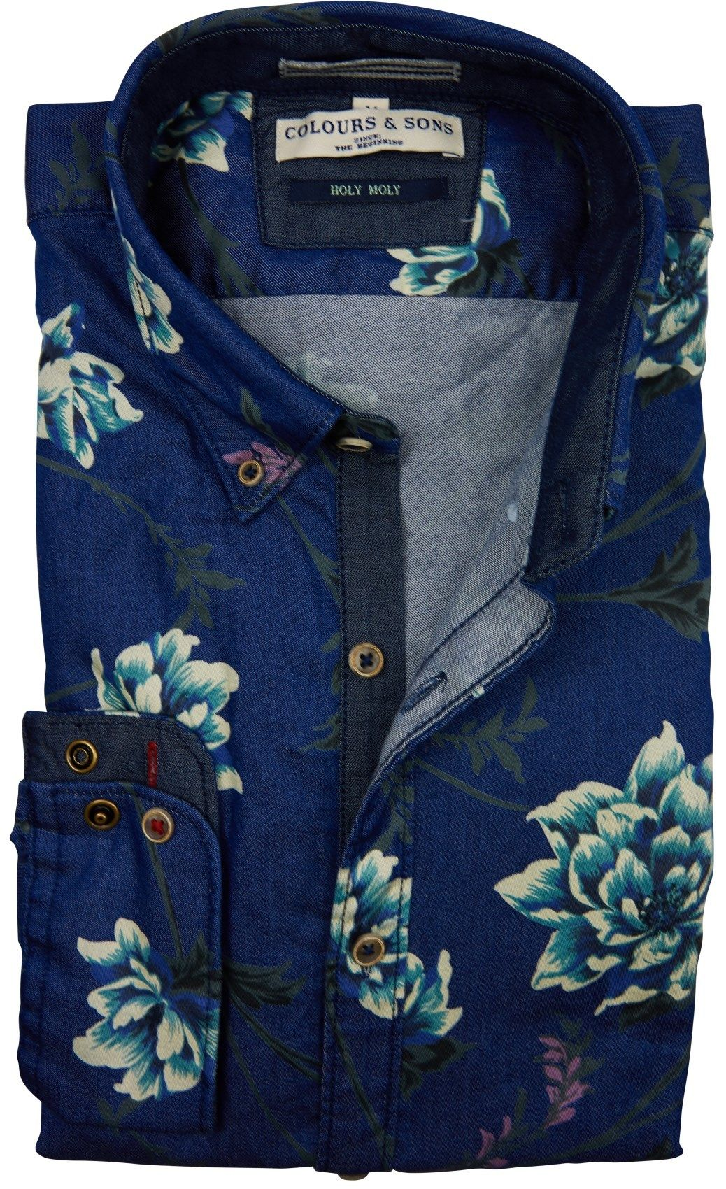 Mannen Blouse Of Overhemd.Colours Sons Herenmode Blouse Herenmode Overhemd