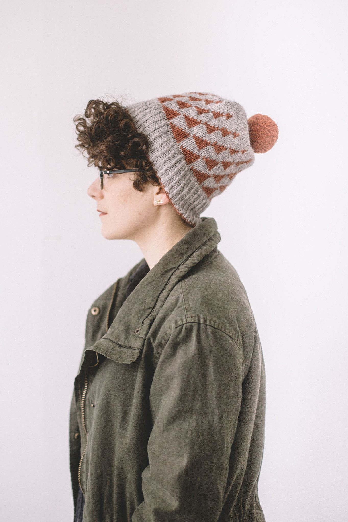 apex hat by olga rych / in quince & co. owl, colors elf and cinnamon ...