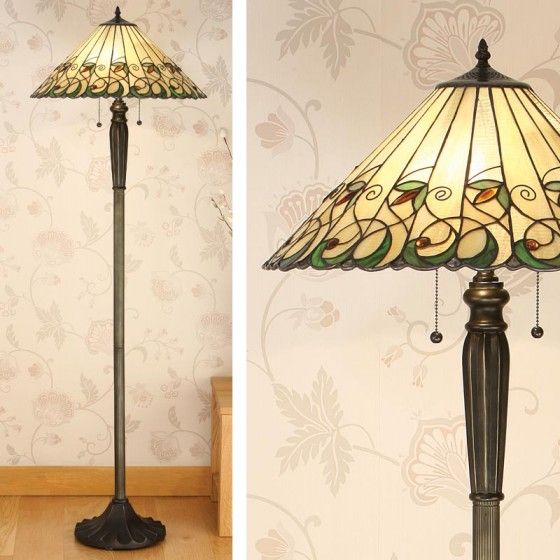 Jamelia Large Tiffany Table Lamp By Interiors 1900 Sculptured Design In  Organic Colours Make The Jamelia