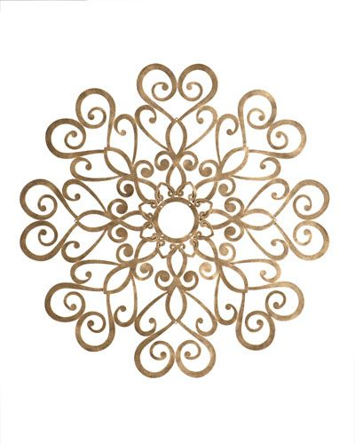 Scrolled ceiling medallion. This can be used as wall decoration as well.