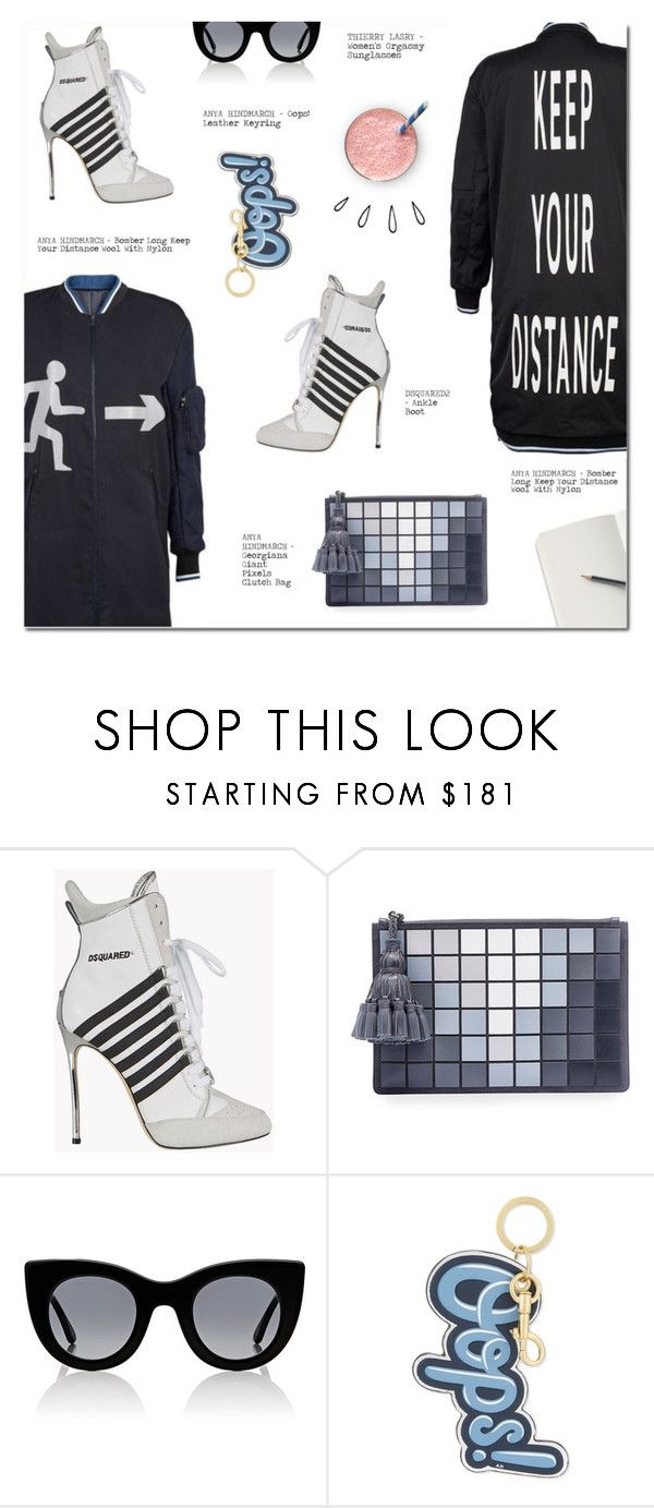 """KEEP YOUR DISTANCE"" by larissa-takahassi ❤ liked on Polyvore featuring Anya Hindmarch, Dsquared2, Thierry Lasry and Old Navy"