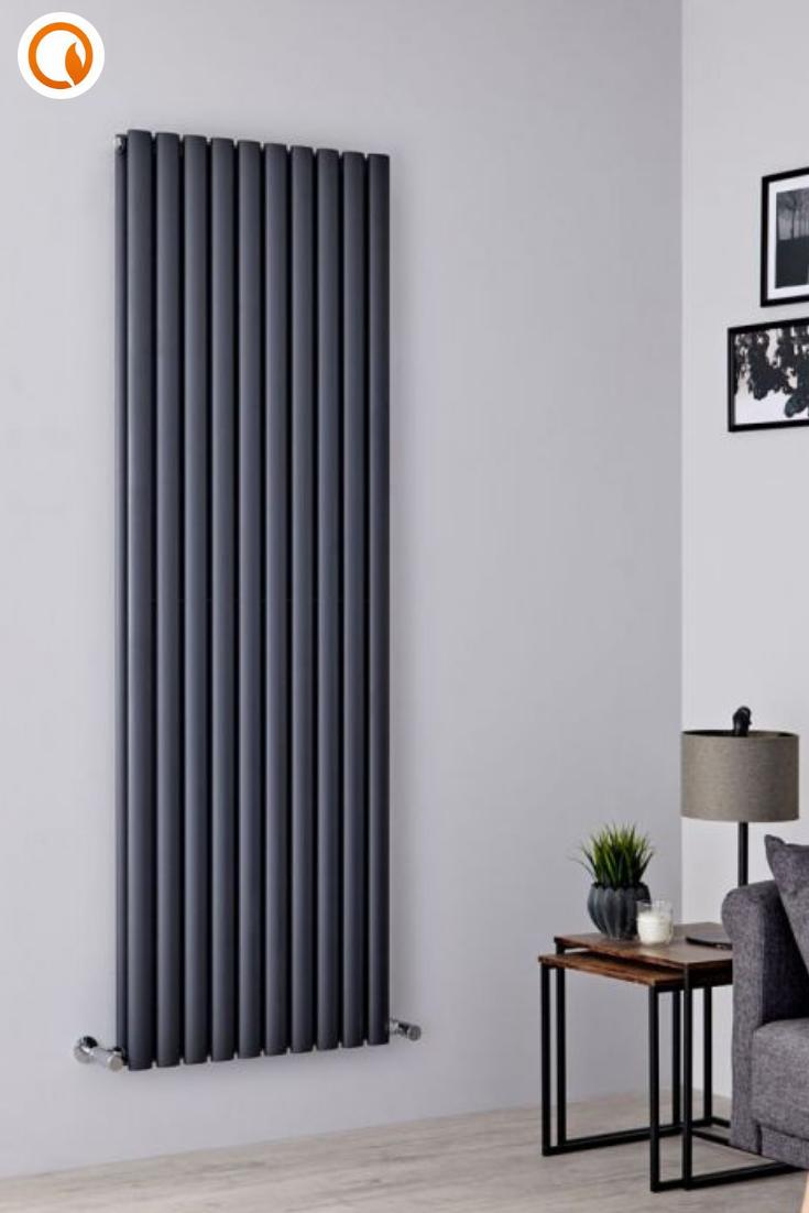 Designer Living Room Radiators: Anthracite Vertical Designer Radiator