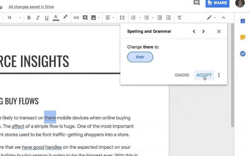 Google Docs get AIpowered grammar checks Compare