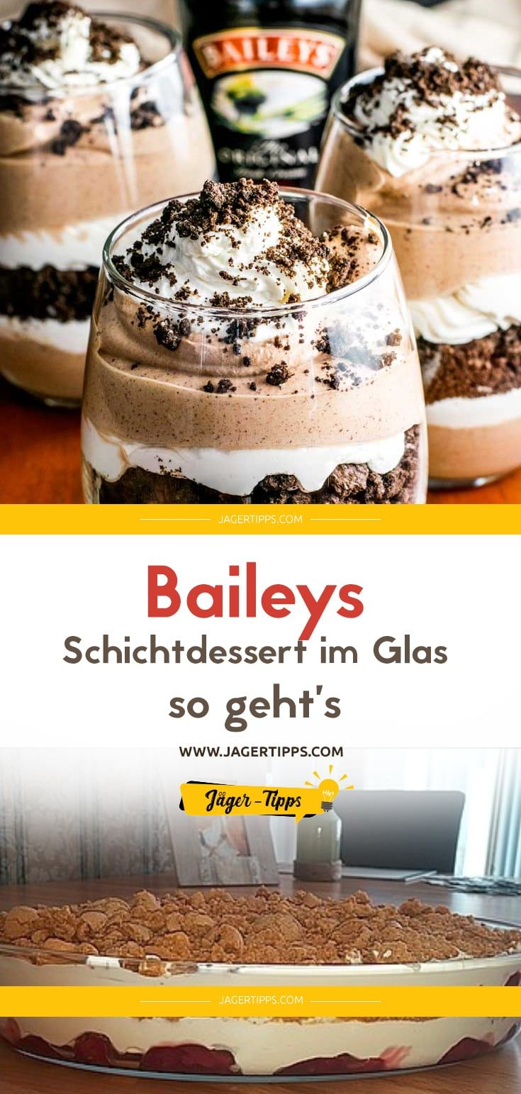 Photo of Bailey's layered dessert in a glass – how it works