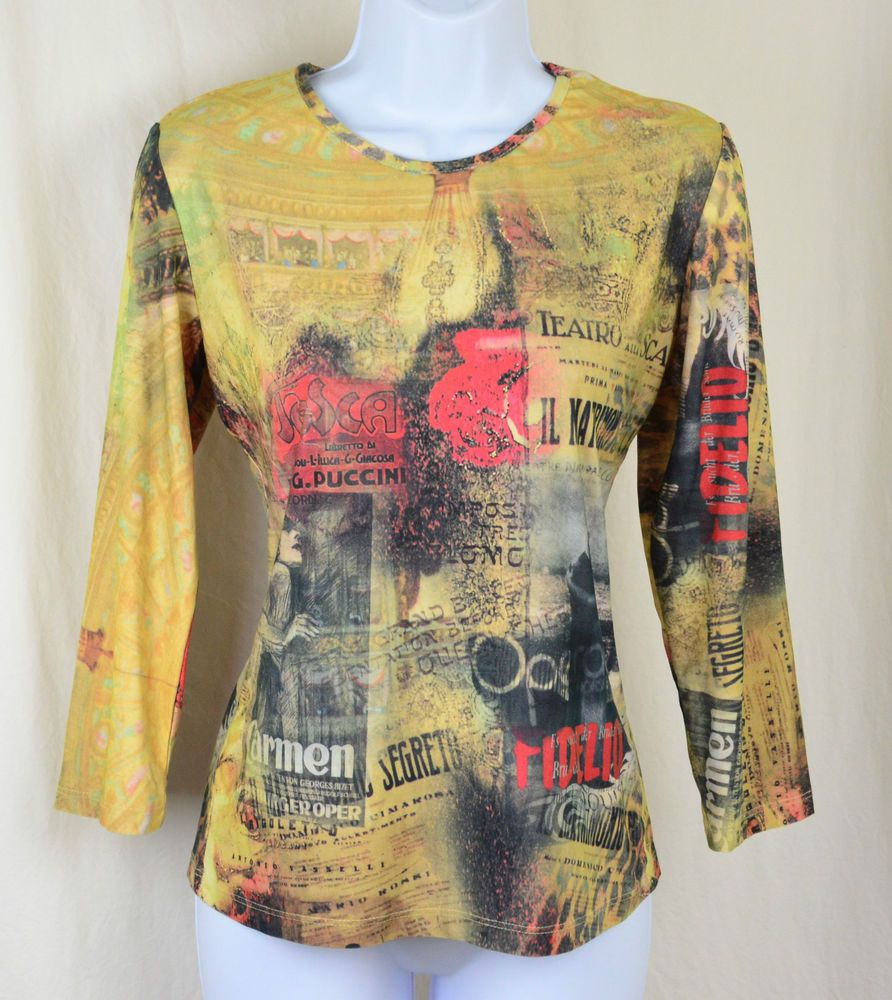 Women's Caia print knit top.  Soft stretch with scoop neck and long sleeves.  Sm #Caia #KnitTop $17.99