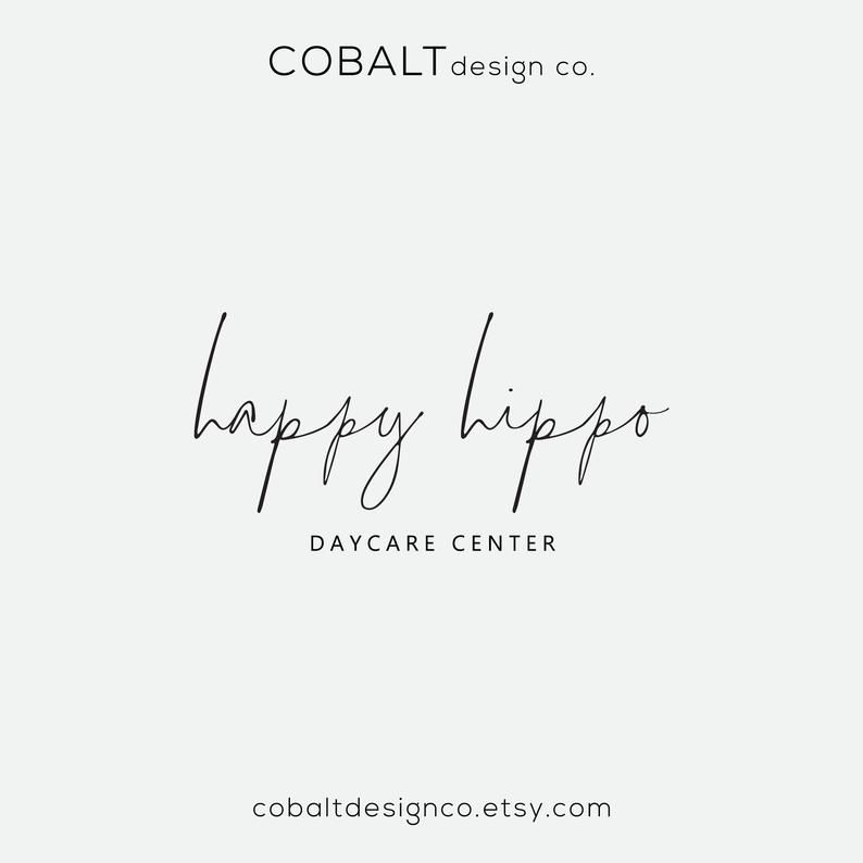 Daycare Logo, Logo Design, Handwritten Font, Simple Logo