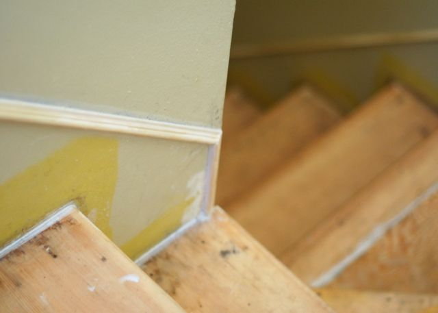 Basement Stair Trim: Faking A Stair Skirt! Take The Side Street: Are Your