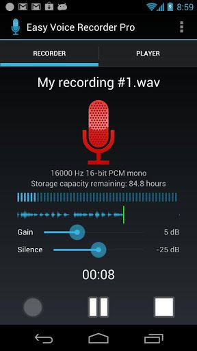 Easy Voice Recorder Pro v1.7.0 Requirements Android 2.1