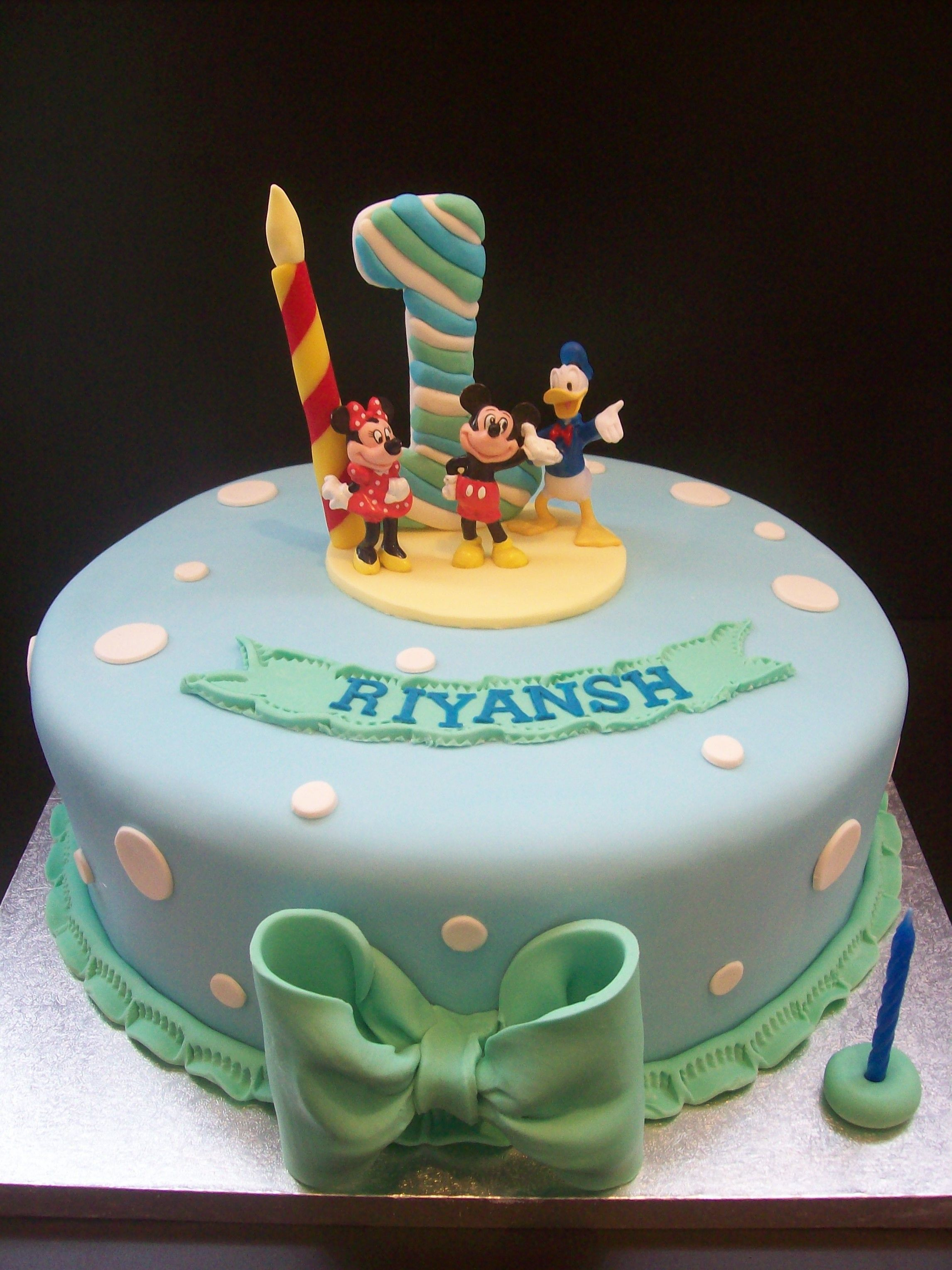 Mickey Mouse Cake Auckland FREE Delivery AKL Non Rural 195 10 Inch Figurines Bought From A Licensed Retailer