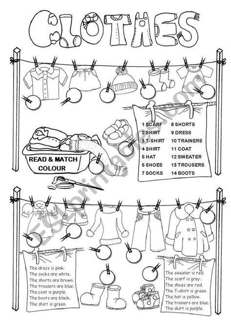 pin von jennifer reisch auf englisch teach english to kids teaching english und english clothes. Black Bedroom Furniture Sets. Home Design Ideas