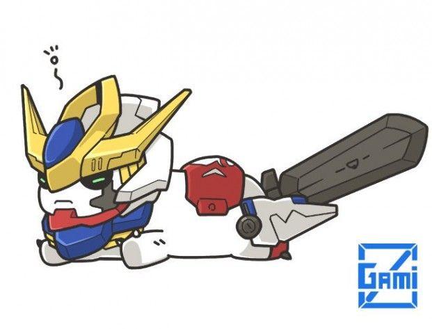可愛到爆 日本插畫家畫q版鐵血的孤兒機體 ガンダム 可愛い 日本