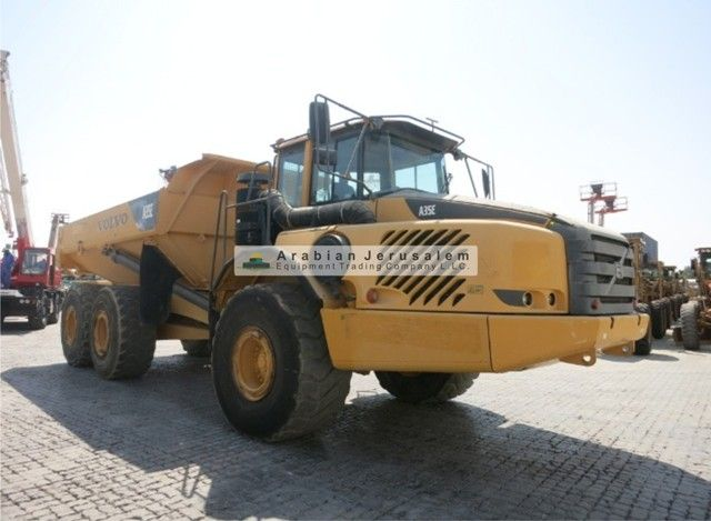 DUMP TRUCK-ARTICULATED - A35E Brand: VOLVO, Year: 2009  For more detail and updated stock, click on the below links: http://www.al-quds.com/category.php?id=116 http://www.al-quds.com   #Heavy_equipment #dumptruck #volvo #construction_equipment #Ajc