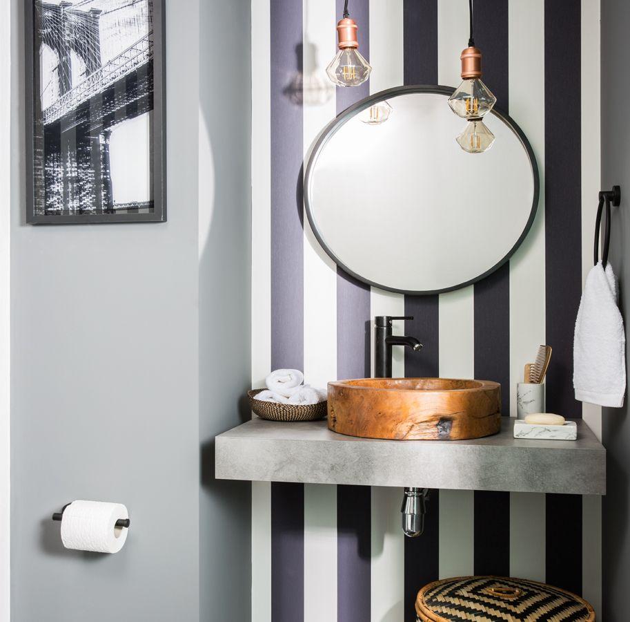 un aseo con mucho estilo - leroy merlin | baños para inspirarte