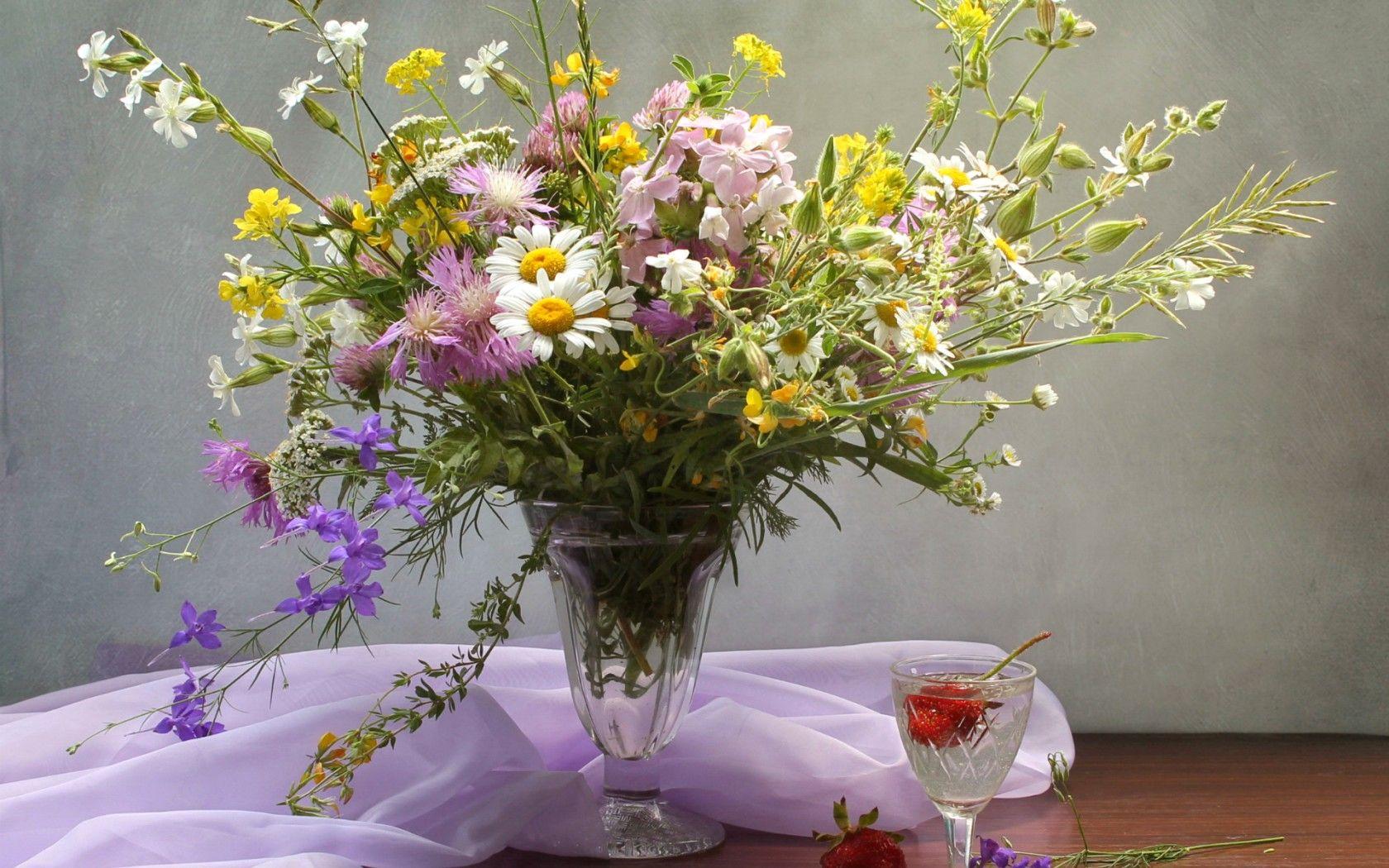 Цветов, фотографии букетов полевых цветов