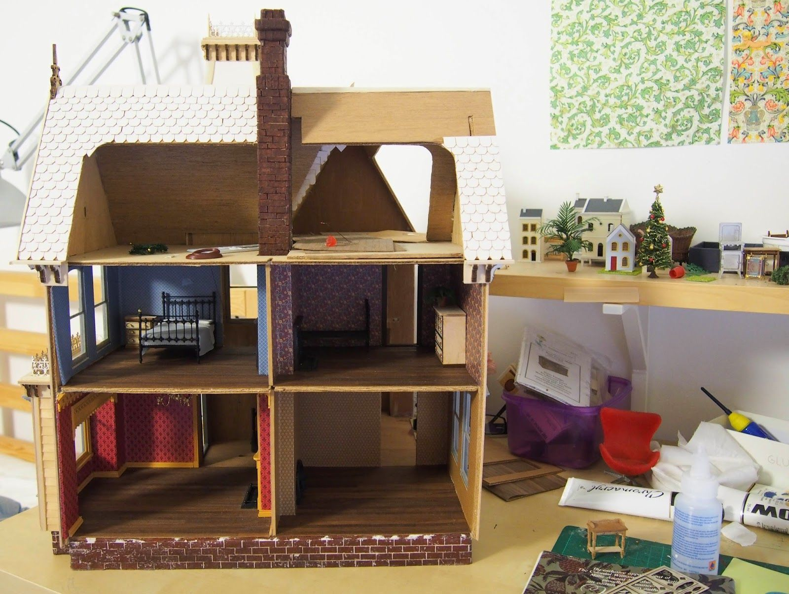 Unfinished Dollhouse Furniture. Architecture Of Tiny Distinction\u0027s  Greenleaf Fairfield Dollhouse (unfinished )