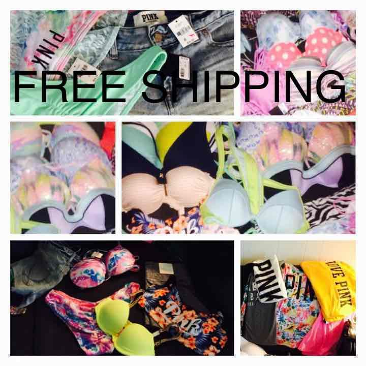 8523cb88820c7 NWT Victorias Secret PINK swim MIXED Lot - Mercari  Anyone can buy   sell