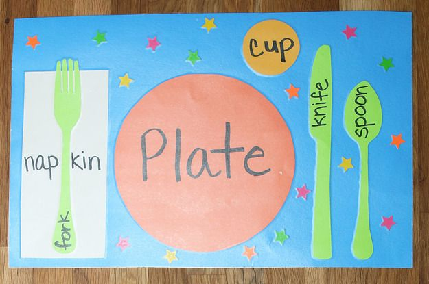 Diy Table Setting Placemats Diy Table Settings Placemats Kids Diy Placemats