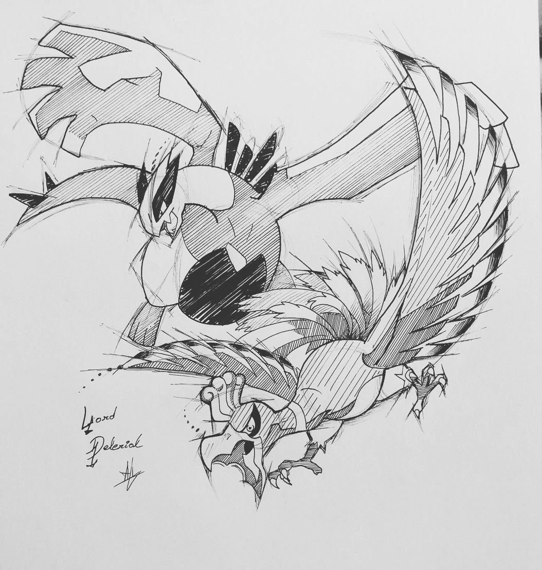 Lugia & Ho-Oh By @Lord_delerial on instagram