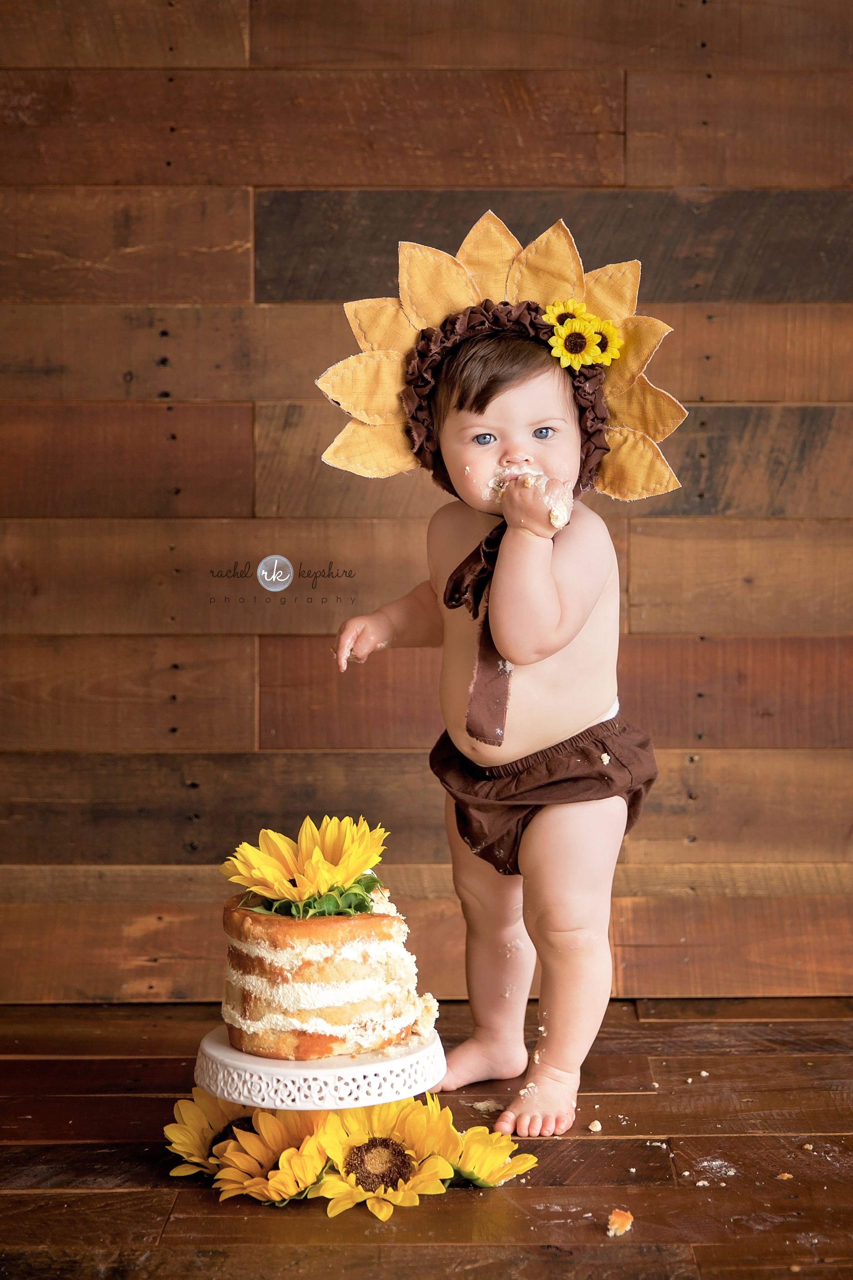 Sunflower Cake Smash Cake Smash Session Rachel Kepshire