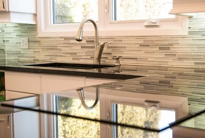 Kitchen renovation by zrhome.ca quartz by Creative Granite Works Winnipeg