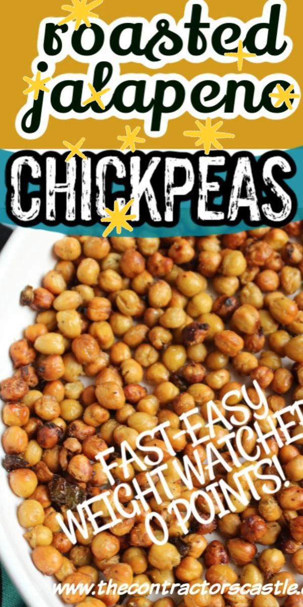 Easy Spicy Roasted Jalapeno Chickpeas