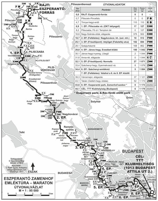 magyarország térkép solymár Eszperantó Zamenhof Maraton emléktúra térkép | Térkép | Pinterest magyarország térkép solymár