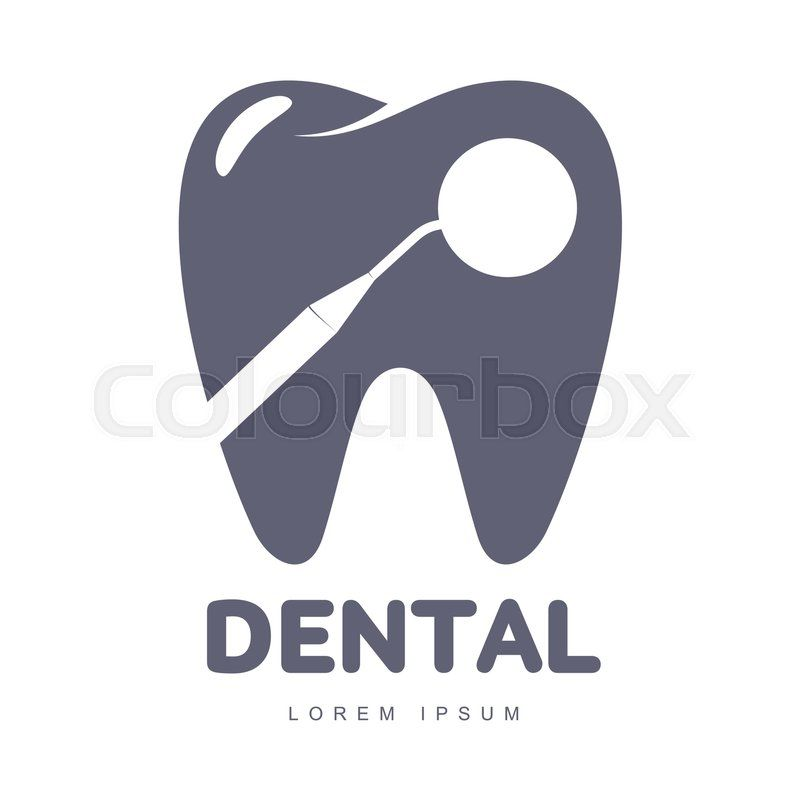 Stock Vector Of Graphic Black And White Tooth Dental Care Logo Template With Mirror Silhouette Over Tooth Dental Logo Design Dental Clinic Logo Dental Logo